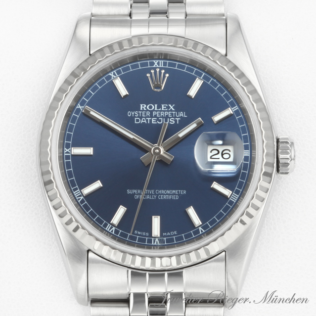 rolex uhr date just stahl weiss gold 750 automatik. Black Bedroom Furniture Sets. Home Design Ideas