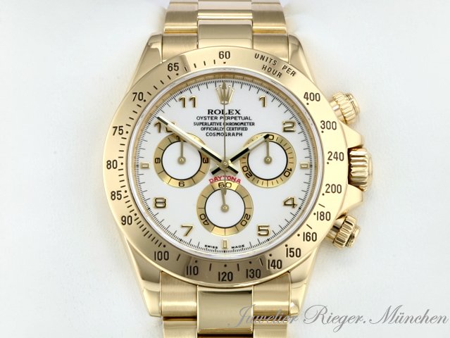 rolex daytona gold 750 rehaut chronograph 116528 ebay. Black Bedroom Furniture Sets. Home Design Ideas