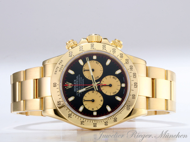 rolex uhr daytona chronograph paul newman 116528 gold 750. Black Bedroom Furniture Sets. Home Design Ideas