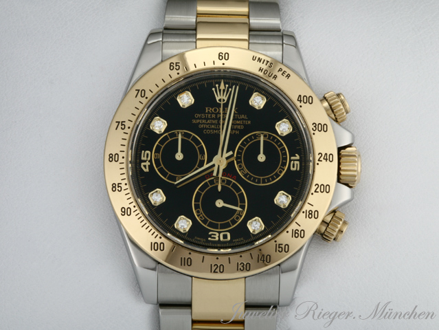 rolex daytona stahl gold 750 chronograph diamanten ebay. Black Bedroom Furniture Sets. Home Design Ideas