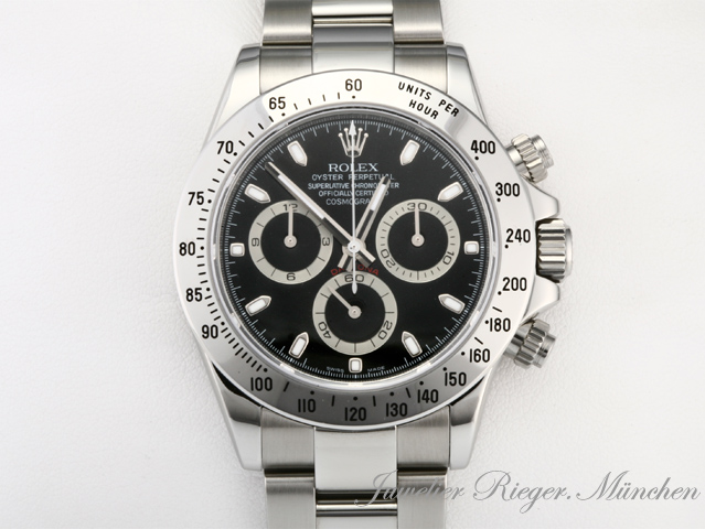 kult rolex uhr daytona stahl 116520 ebay. Black Bedroom Furniture Sets. Home Design Ideas