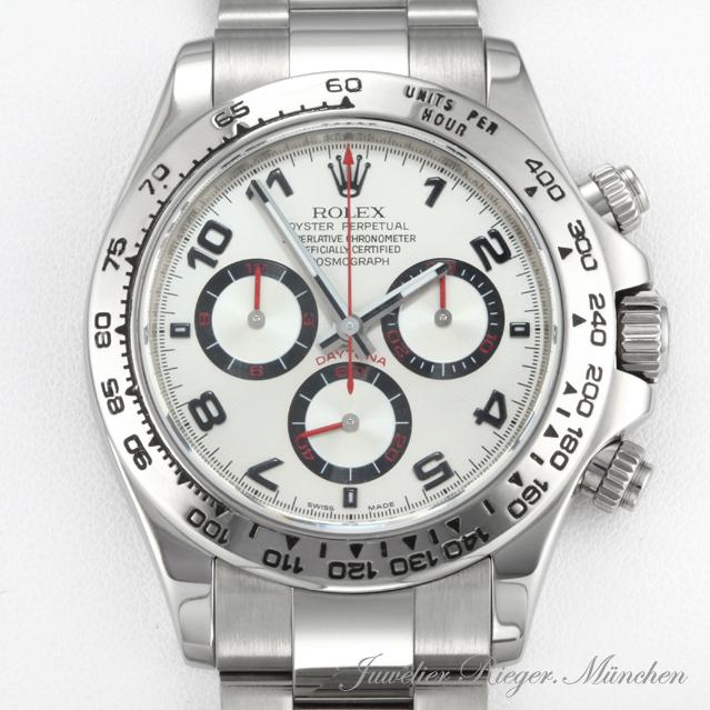 rolex uhr daytona weiss gold 750 116509 rehaut chronograph herrenuhr armbanduhr ebay. Black Bedroom Furniture Sets. Home Design Ideas