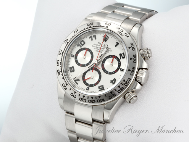 rolex uhr daytona weiss gold 750 116509 rehaut chronograph. Black Bedroom Furniture Sets. Home Design Ideas