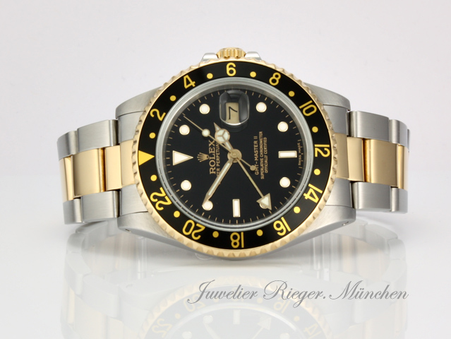 rolex uhr gmt master ii stahl gold herrenuhr automatik. Black Bedroom Furniture Sets. Home Design Ideas