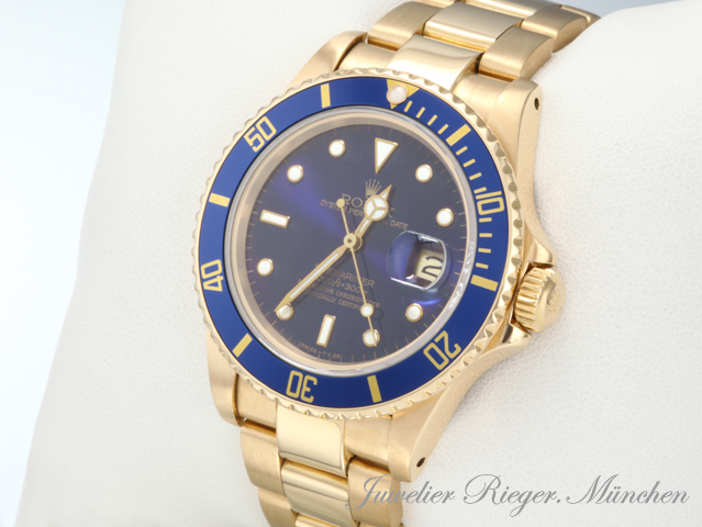 rolex uhr submariner date gold 750 herrenuhr armbanduhr. Black Bedroom Furniture Sets. Home Design Ideas