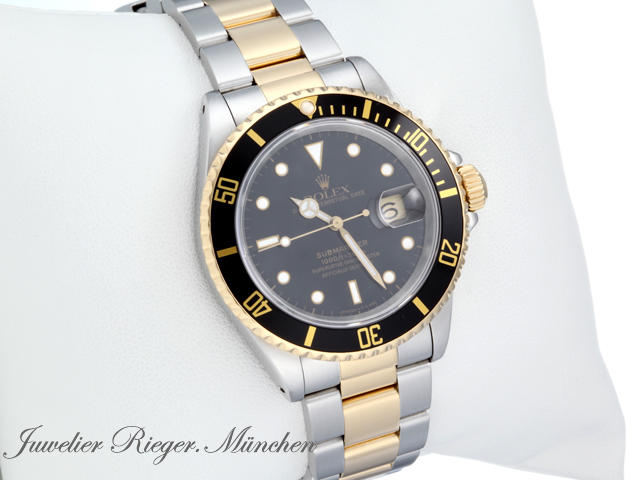 rolex submariner date 16613 stahl gold automatik. Black Bedroom Furniture Sets. Home Design Ideas