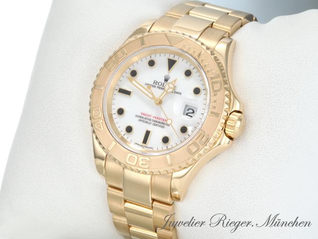 rolex uhr yachtmaster gold 750 40 mm 16628 herrenuhr armbanduhr ebay. Black Bedroom Furniture Sets. Home Design Ideas